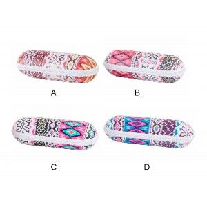 Case 2-in-1 (20x6x6.4 cm) Pillbox + Glasses . Ethnic