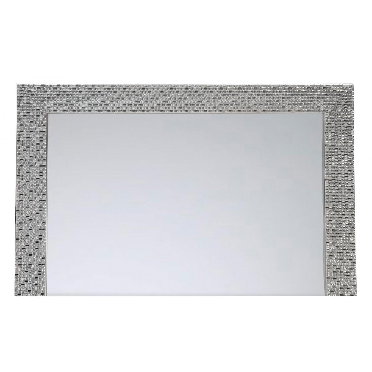 Espejo para puerta moderno plateado con dise o de - Espejos color plata ...