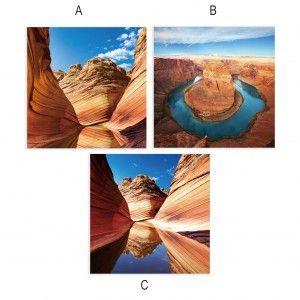 Cuadro fotoimpresión sobre lienzo, modelo Cañón del Colorado