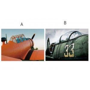 Cuadro fotoimpresión sobre lienzo, modelo avión