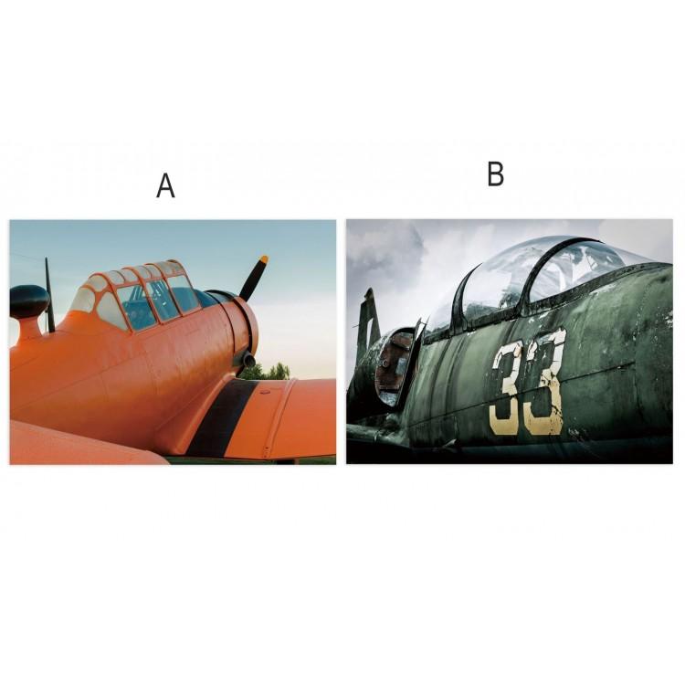 Cuadro fotoimpresión sobre lienzo, modelo avión Hogar y mas