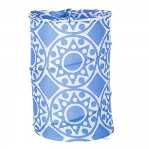 Pongotodo for bathroom blue ethnic