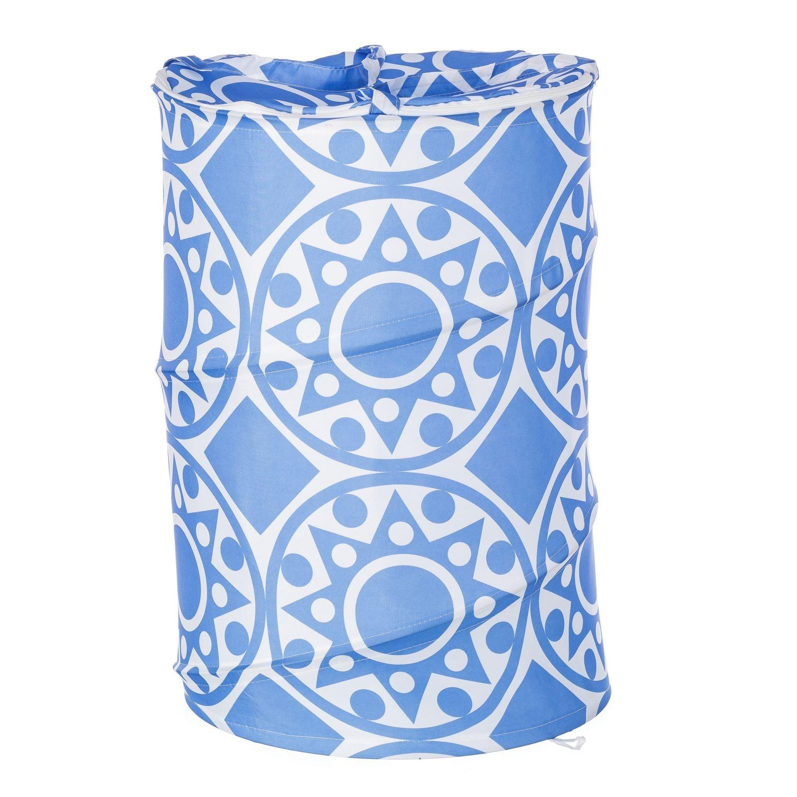 Pongotodo for bathroom blue ethnic