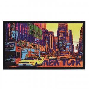 Doormat fotoimpresión of polyester and pvc, model New York