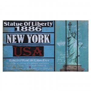 Doormat fotoimpresión of nylon and rubber, Statue of Liberty