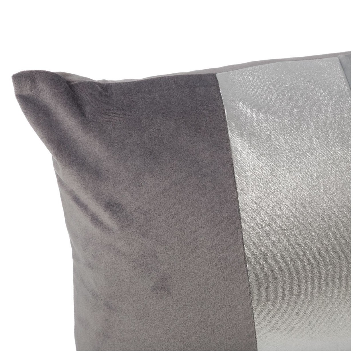 Coj n rectangular con relleno gris plata hogar y m s - Cortinas gris plata ...