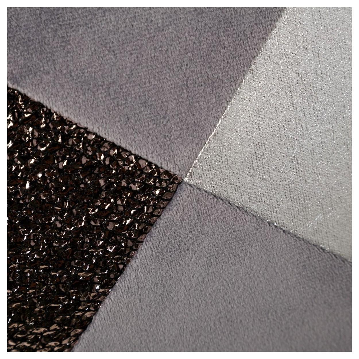 Coj n cuadrado con relleno gris plata poli ster y - Cojin cuadrado suelo ...