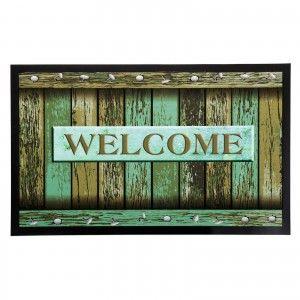 Doormat fotoimpresión of polyester and pvc, model welcome