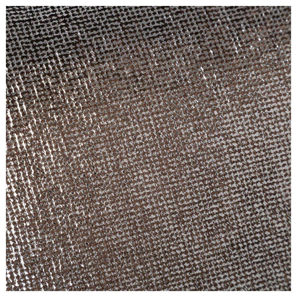 Coj n cuadrado con relleno color metal marr n tacto - Cojin cuadrado suelo ...