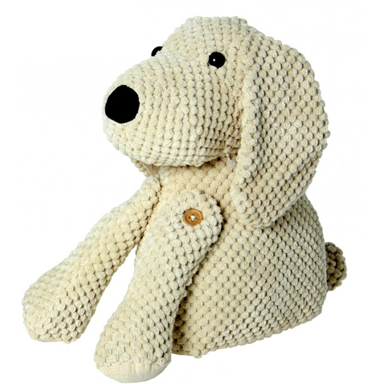 Sujeta puertas de tela perro beige hogar y m s for Sujeta puertas de tela