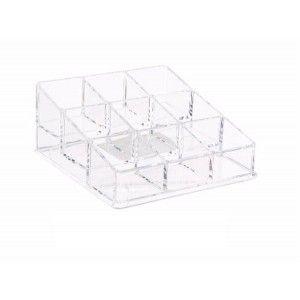 Organizer for nail, acrylic transparent