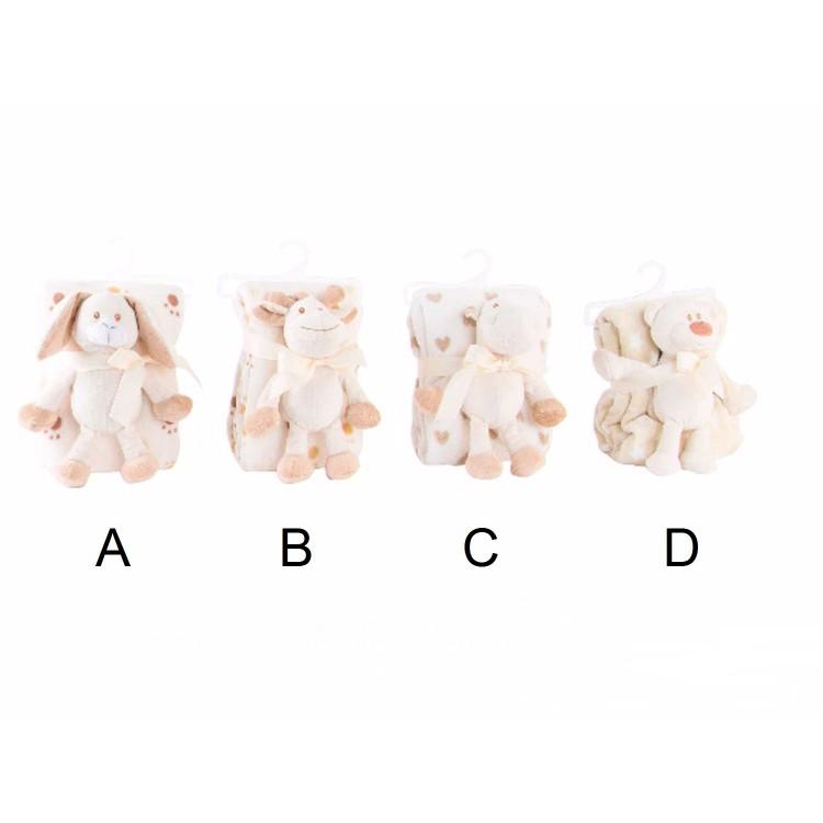 Manta infantil con peluche - 4 Modelos