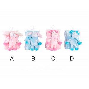 Blanket child with teddy - 4 designs