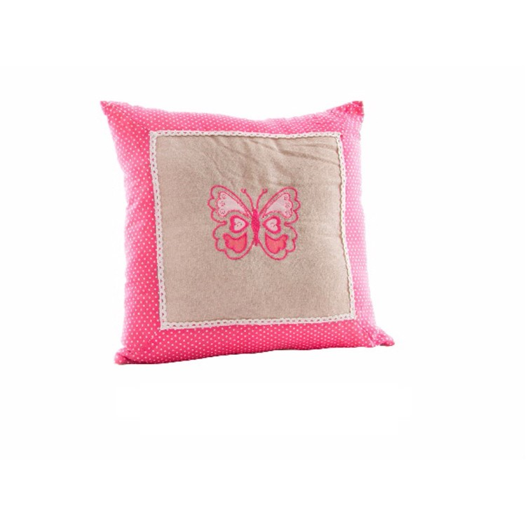 Coj n cuadrado rosa modelo mariposa hogar y m s - Cojin cuadrado suelo ...