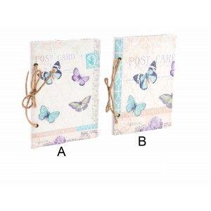 Libreta de cartón - Modelo Mariposa