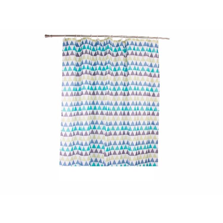 Cortina de ba o modelo geom trico hogar y m s for Argollas cortina de bano