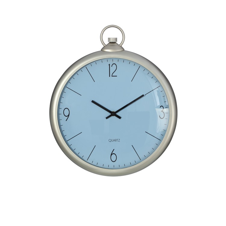 Reloj decoración color plata