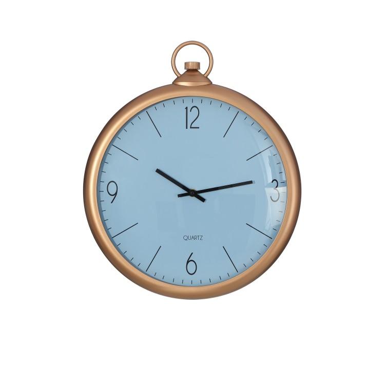 Reloj pvc decoración de color oro