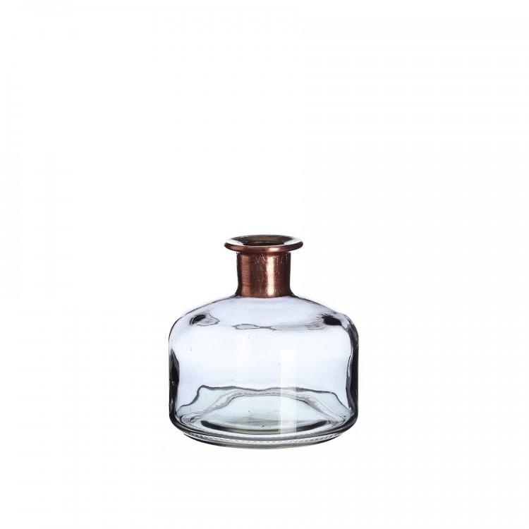 botella gris cristal para decoración