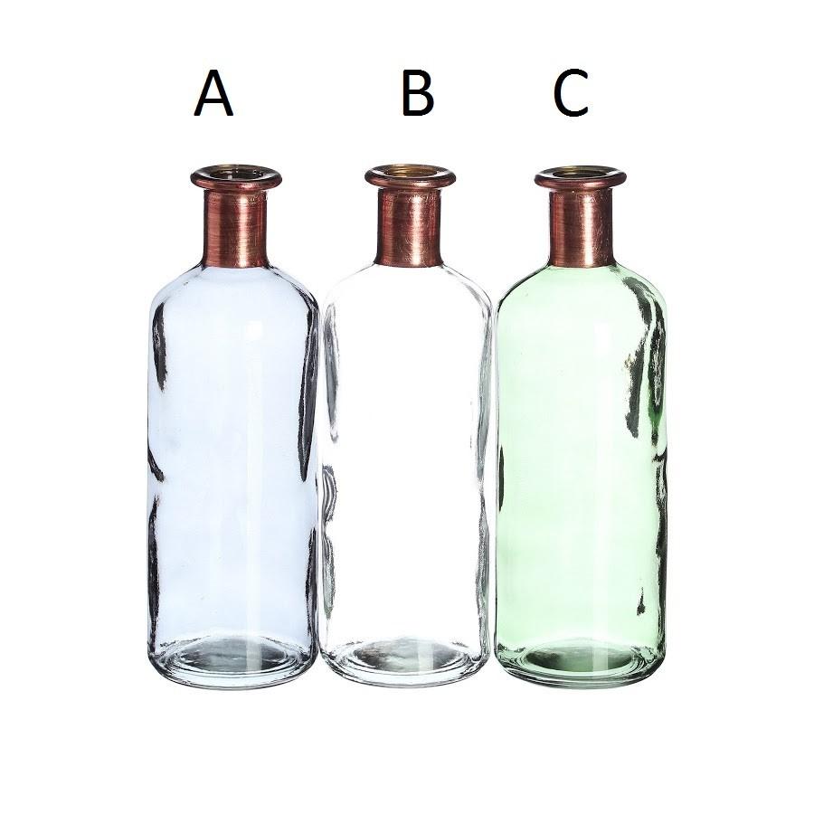 bottle grey crystal decoration