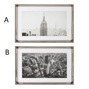 Cuadro de impresión de Nueva york, color plata