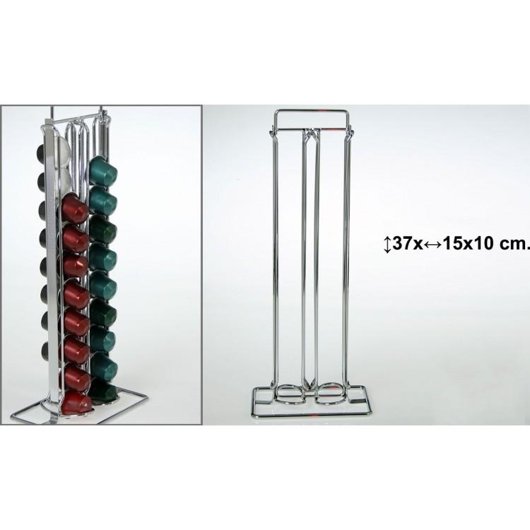 Porta cápsulas Nesspresso metal cromado
