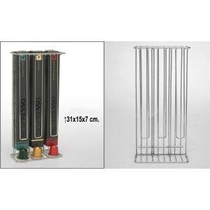 Porta capsules Nesspresso in chrome metal