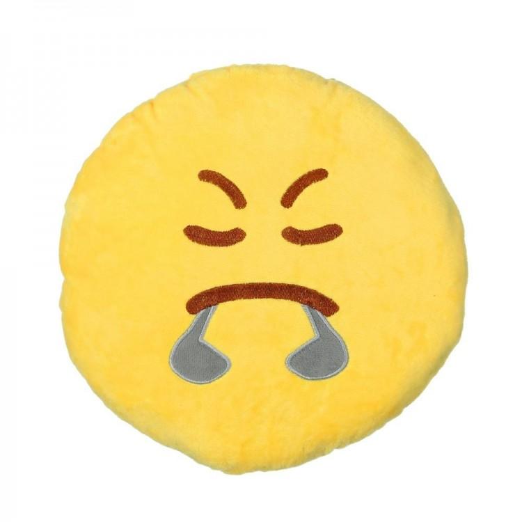 Cojín Angry de color amarillo