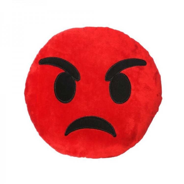 Cojín Anger de color rojo . Poliester