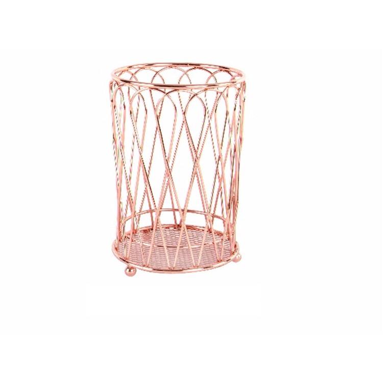 Cubertero de metal cromado - Color cobre