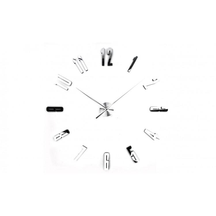Reloj de Pared de Metal-Melamina Cromado, Hogar y Mas