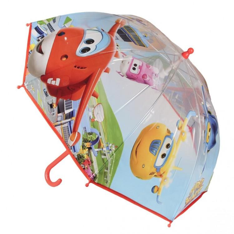 paraguas infantil burbuja, modelo Super Wings