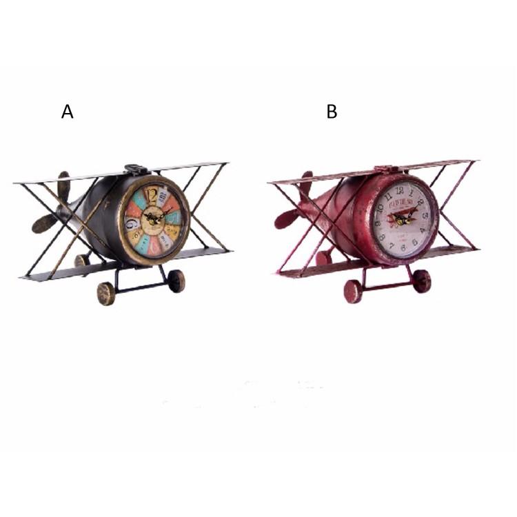 Reloj de metal  en forma de avión, Hogar y Mas