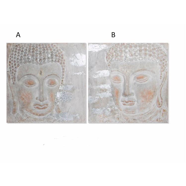Cuadro de madera pintado en lienzo de Buda Hogar y mas