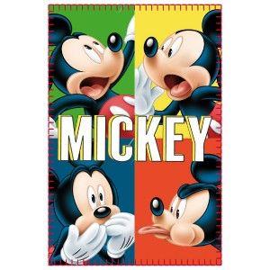 Fleece blanket for children, Mickey Mouse