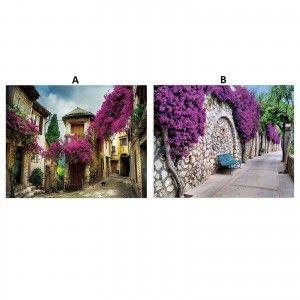 Cuadro fotoimpresión sobre lienzo, montado sobre bastidor de madera de abeto, modelo calles