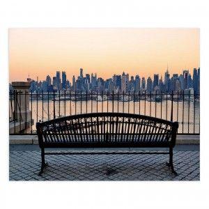 Cuadro fotoimpresión sobre lienzo, montado sobre bastidor de madera de abeto, Vistas de New York