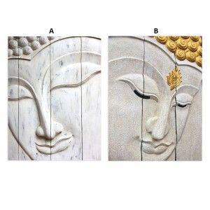Box fotoimpresión on canvas, mounted on wooden frame of fir, model buddha