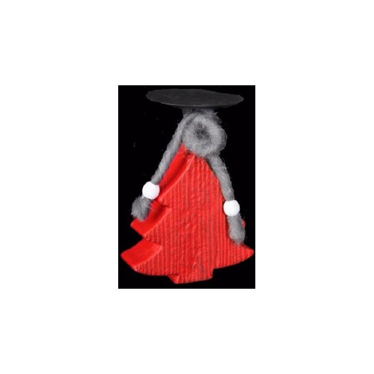 Rbol rojo de navidad en papel mach hogar y m s - Cortinas de papel para navidad ...
