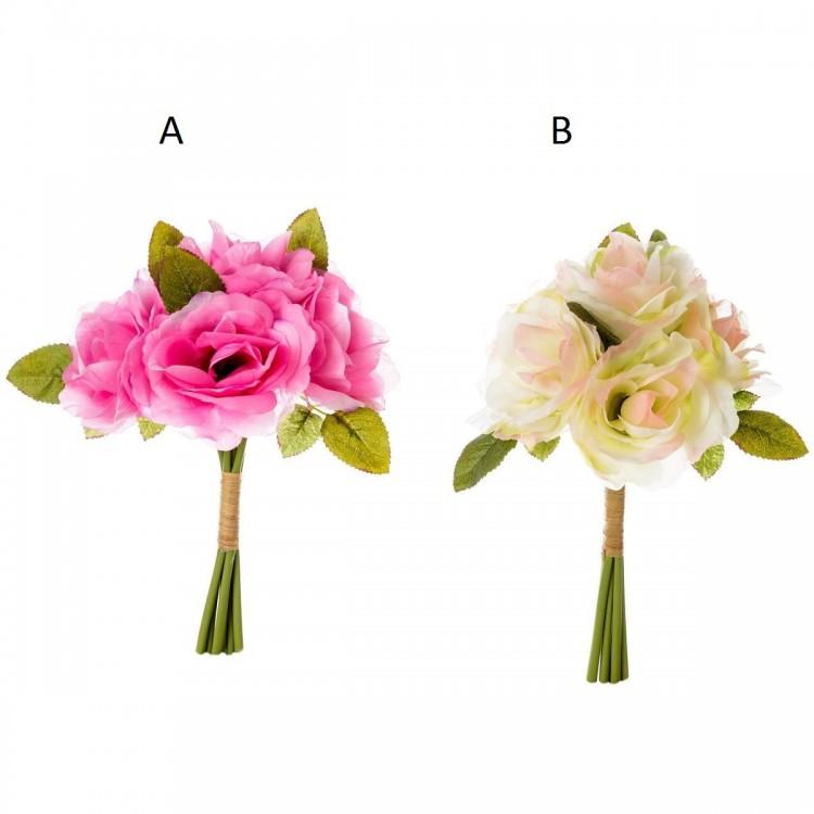 Ramillete rosa de 2 colores Poliester