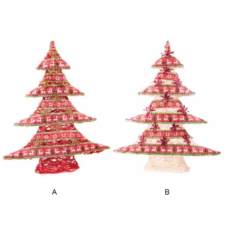 Árbol de Navidad de Tela con 25 Leds. 2 modelos