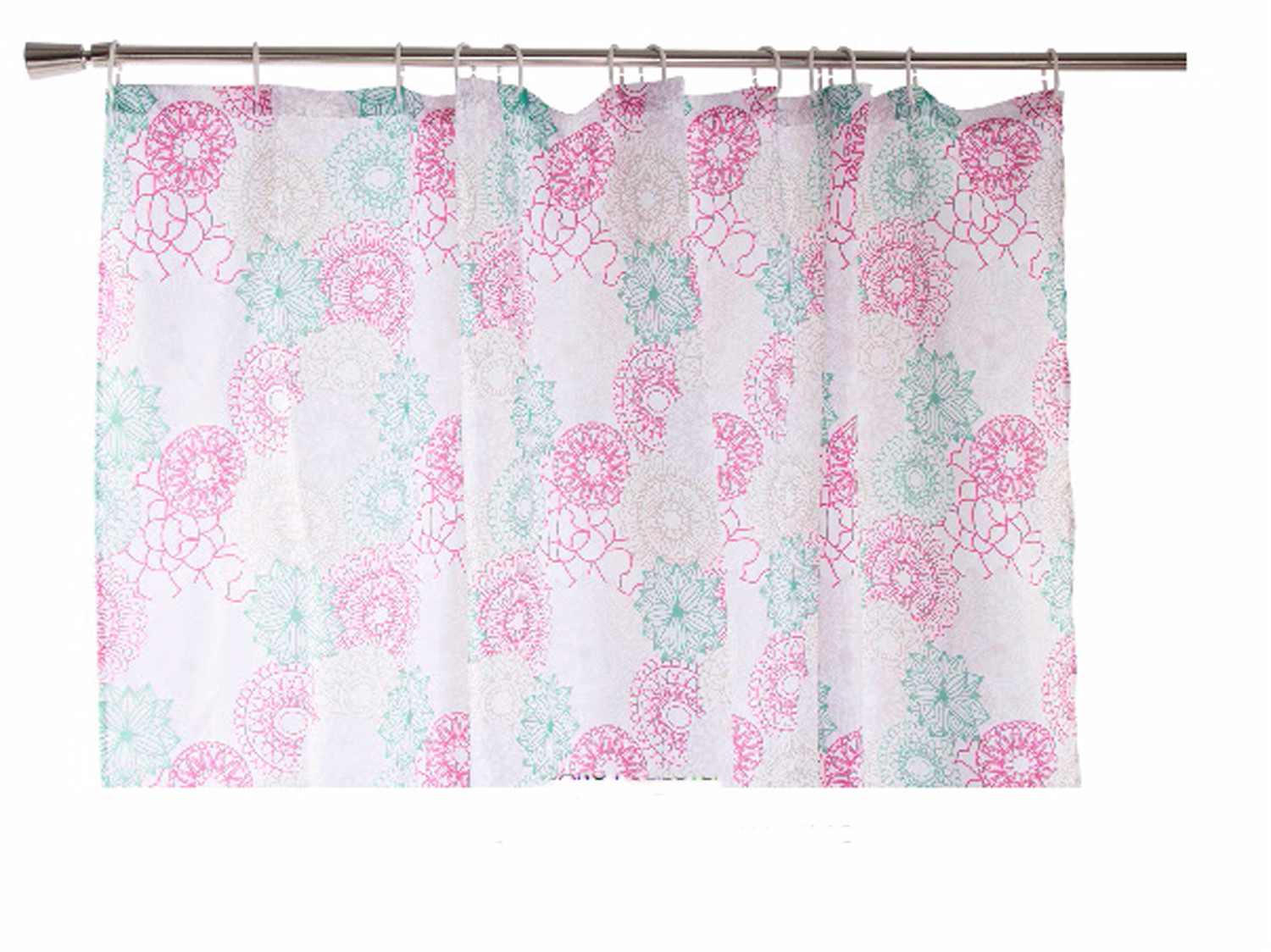 Shower curtain made of polyester mandalas