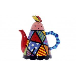 Teapot Ceramic. Colors and shapes