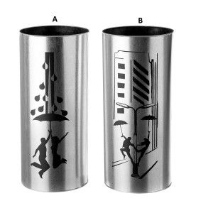 umbrella stand galvanized steel, model couple