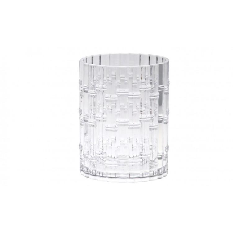 Vaso de Cristal Acrílico, para el Baño. Diseño Geométrico, con estilo Moderno - Hogar y Más