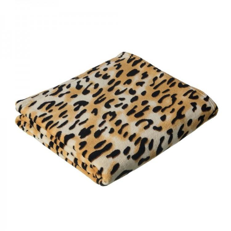 Manta para sofá de Poliéster. Leopardo