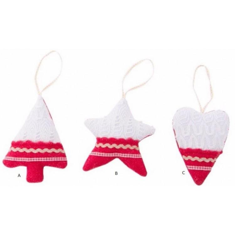 Decoración Navidad de tela bordada