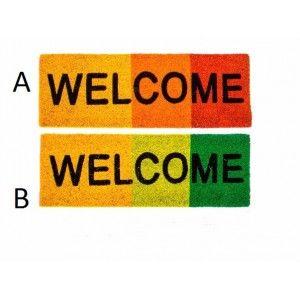 """FELPUDO ENTRADA CASA COCO NATURAL """"WELCOME"""""""
