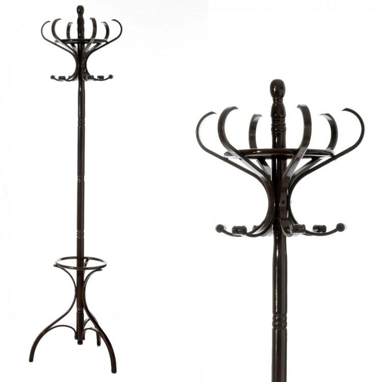 Perchero modelo Thonet negro de madera y álamo, de Hogar y Mas