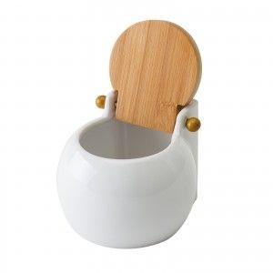 Salt shaker made of Ceramic. White